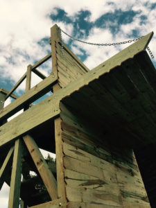 Siege tower built in 2017 for the Battle Chess show at the Renaissance Faire at Sleepy Hollow